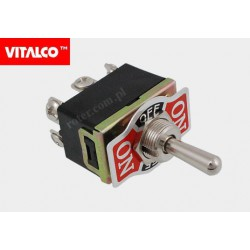 Przeł. dźwigniowy 6pin/3poz (on)-off-(on) VS5363 Vitalco PRV060