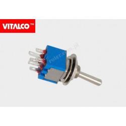 Przeł. dźwigniowy 6pin/2poz on-on VS5203 Vitalco PRV050