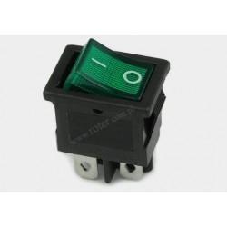 Przeł. podśw. mały 12V, zielony