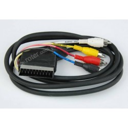 Przyłącze SCART / 4*wtyk RCA 1,2m CCA
