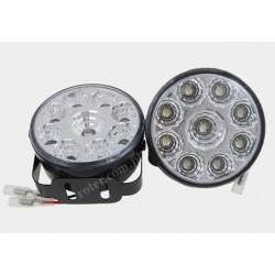Światła do jazdy dziennej 9 diod SMD okrągłe 70mm