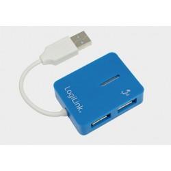 Hub USB 2.0 4-portowy SMILE niebieski