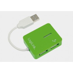 Hub USB 2.0 4-portowy SMILE zielony