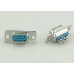 Złącze HD-SUB (HDDB) 15F gniazdo / proste
