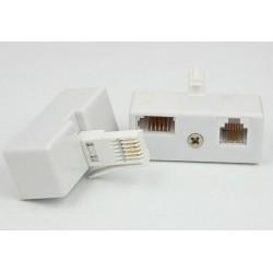 Adapter wtyk UK/gniazdo mod. + gniazdo UK