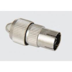 Gniazdo antenowe proste metal na kabel