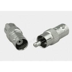 Adapter wtyk RCA / gniazdo BNC nikiel