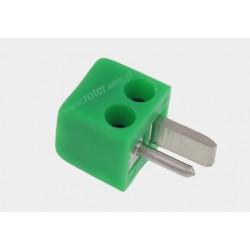 Wtyk głosnikowy mini zielony
