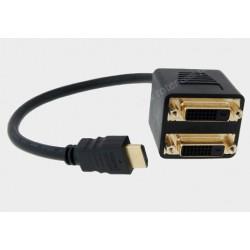 Adapter wt. HDMI/2xgn. DVI (24+1)