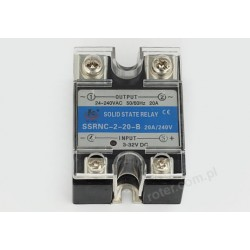 Przekaźnik półprzewodnikowy 20A SSRNC-2-20-B