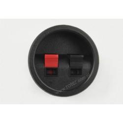 Gniazdo kolumny głośnikowej okrągłe wciskane 2 pin