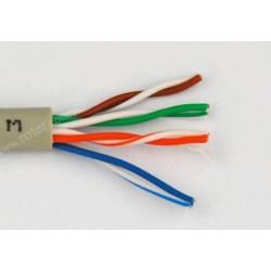 Przewód skrętka drut UTP CCA szary RoHS Talvico L-210
