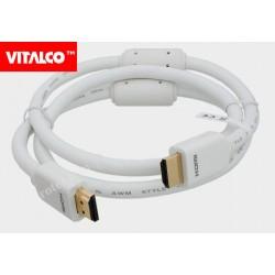 Przyłącze HDMI złote białe 1,5m Vitalco