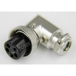 Gniazdo mikrof. CB 5p kątowe na kabel RoHS