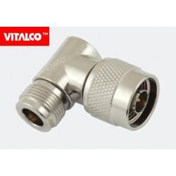 Adapter wtyk N/gniazdo N kątowy Vitalco
