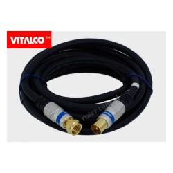 Przyłącze wtyk TV / wtyk F Vitalco AK60 3,0m (blister)