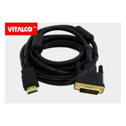Przyłącze HDMI / DVI złote, DSKDV24 Vitalco 3,0m (blister)
