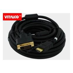 Przyłącze HDMI / DVI złote, DSKDV24 Vitalco 10m